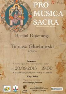 Koncert organowy Tomasza Głuchowskiego w Lubaniu