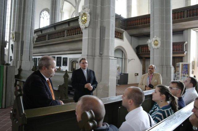 Ks. dr Hans-Wilhelm Pietz opowiada historię kościoła ewangelickiego Apostołów Piotra i Pawła w Görlitz