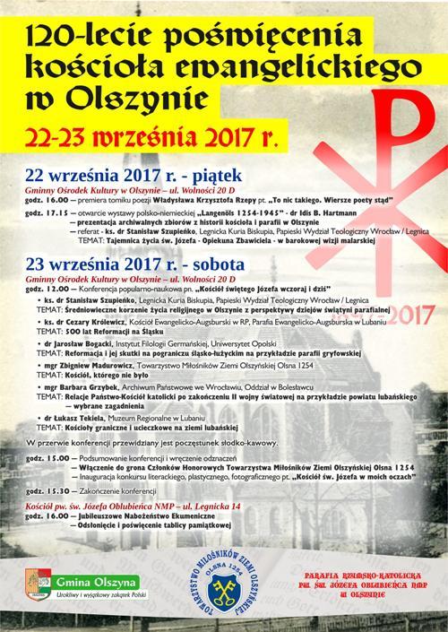 120 lat kościoła ewangelickiego w Olszynie